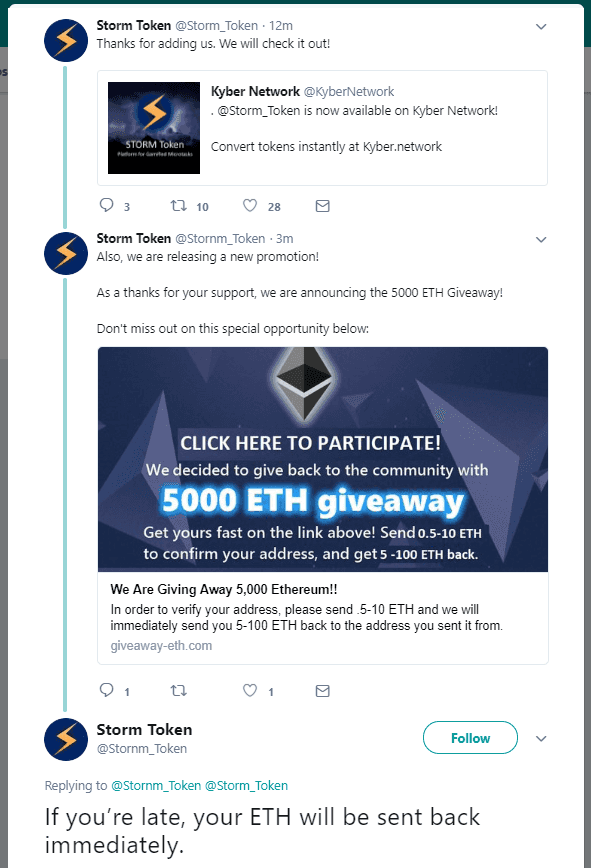 Trust Trading Scam (Twitter)