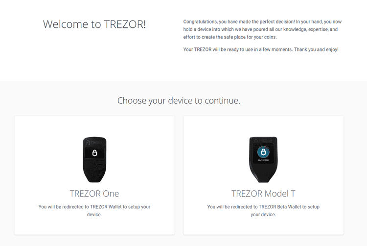 Welcome to TREZOR