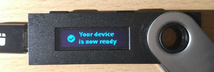 Your device is now ready
